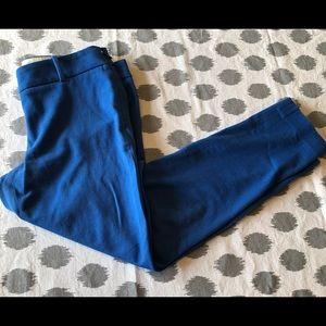 J Crew Winnie Pants 2 Blue Cropped Capri Career